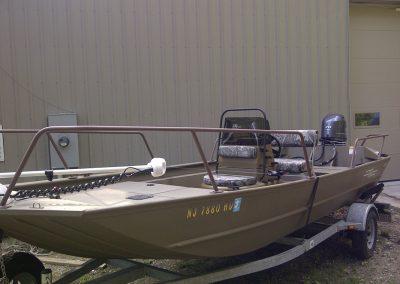 G3 John Boat Power Coat Rails